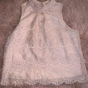 Cute Pink Nude Dress Shirt